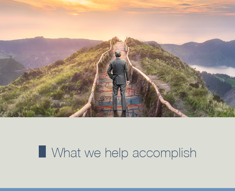 What We Help Accomplish